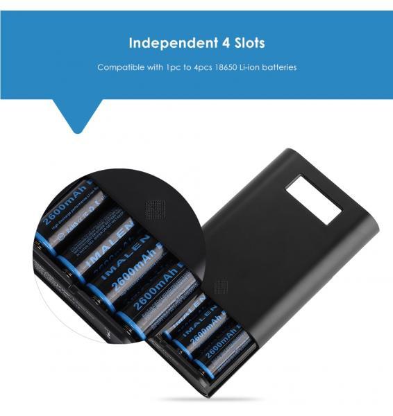 Soshine E3S 18650 Li-ion Battery Charger Power Bank Case LCD Display