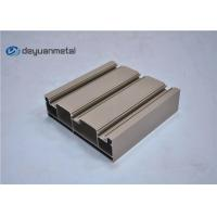 Standard Tan Powder Coating Aluminum Extrusions Shapes With Alloy 6063-T5 Manufactures