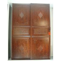 interior wooden Embossed / Carved Plastic Sliding Door with PVC skin Manufactures