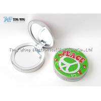 Compact Round Custom Pocket Makeup Mirror OEM For Promotional for sale
