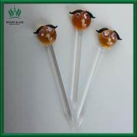 Cat Face Shaped Carb Cap And Dabber 4.5 Inches Yellow And Clear For Glass Water Smoking Pipe Manufactures