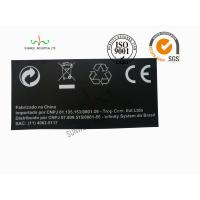 Back Ground Custom Logo Print Sticker Labels Synthetic Paper Black Color Manufactures