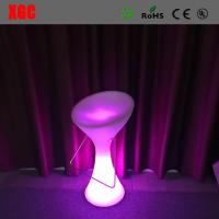 2016 Hot Sale Plastic Glowing Chair With Rechargeable RGB LED Lights Manufactures