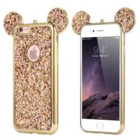 Bling Paillettes Soft TPU Case Mickey Ear Protective Cover For iPhone 6 6s Plus Manufactures