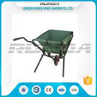 Green Color Cloth Fold Away Wheelbarrow 5kg Water Resistant Cover For Gardeners Manufactures