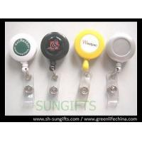 Quality Solid custom printed retractable reel, ID badge reel with clear dome logo for sale