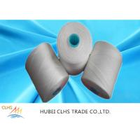 White Polyester Yarn Dyeing , 100 Spun Polyester Sewing Thread For Hand Knitting Manufactures