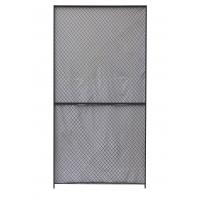 Security Woven Wire Mesh Partition Panels 10 Gauge Clinched 8 Feet High 5 Feet Width Manufactures