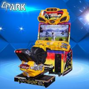 Amusement Park Center Car Racing Machine / FF Motorbike Arcade game Machine Manufactures