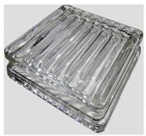 Decorative transparent glass paver glass floor tile Manufactures
