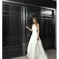 BF-1004 Heavy Duty Interior Sliding Doors With Aluminum Frame, Custom Modern Bypass Sliding Door Factory Manufactures