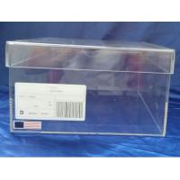 China SGS 32x23x17cm Transparent Perspex Shoe Box With Sticker Logo on sale