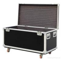 Black Plastic 6u Flight Cases For Speaker , Metal Tool Case Manufactures