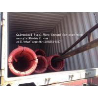Hot Dipped Galvanized Steel Cable Strand For Stay Wire BS 183 With 100m / Roll Manufactures