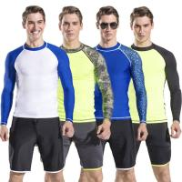 China mens long sleeve rash guard swim suit diving suit with shorts pants wholesale different types for choose on sale