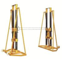 China 10 Ton Extension Cable Pulling Stand , Adjustable Hydraulic Cable Jack Stands on sale