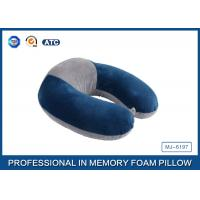 Colorful Portable Memory Foam Travel Neck Pillow With Innovational Cover Manufactures