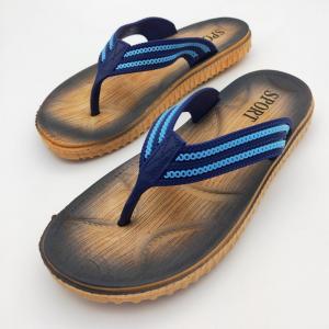 China Men'S Summer Flip Flops Beach Slippers Webbing Upper Anti Slide Sandals on sale