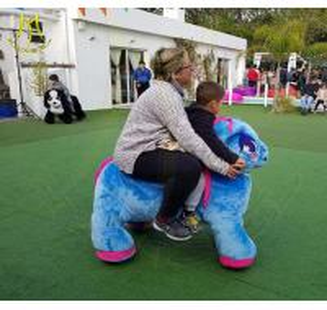 China Hansel china outdoor playground kids ride on stuffed motorized animals on sale