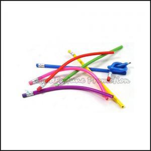 Customed promotion printed logo pvc soft stripe flexible fold pencil gift