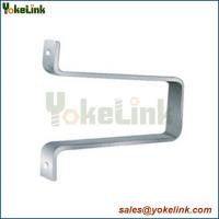 High quality Galvanized Steel Side Post Insulator Bracket For pole line accessories Manufactures