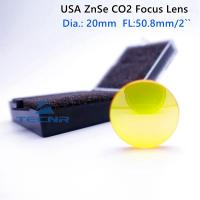 high quality USA ZnSe CO2 laser lens 20MM Diameter 50.8MM Focus Length focusing lens Manufactures