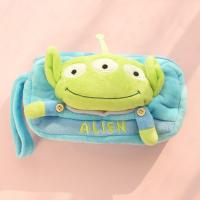 China Stationery Toy Story 3 Alien Plush Pencil Case For Promotion , Blue / Yellow on sale