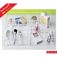 Rectangle Hotel Acrylic Photo Frames , Plexiglass Serving Tray Stand Manufactures