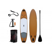 China 5.4 Ft 335cm Bamboo Inflatable Stand Up Paddle Board on sale