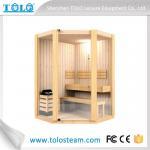 Polygon cedar sauna cabins indoor for 3 person - 6 person Manufactures