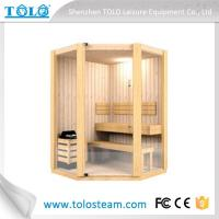 Buy cheap Polygon cedar sauna cabins indoor for 3 person - 6 person from wholesalers