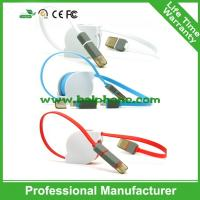 China Wholesale custom colorful 2 in 1 retractable 5pin micro usb cable on sale
