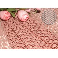China 47 Inches Guipure French Venise Lace Fabric / Embroidered Dress Fabric By Azo Free on sale