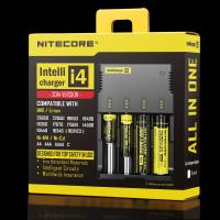 NITECORE i4 4 channels multi-functional Intellicharger Li-ion/Ni-MH/Ni-Cd Universal Battery Charger Manufactures