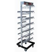 Two Side Wire Metal Display Stands Retail Store Modular With Multiple Hooks Manufactures