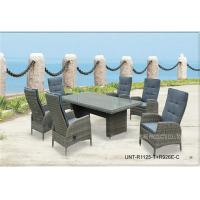 All Weather Wicker Garden Table And Chairs For Dining / Meeting UV Protection