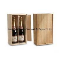 wooden wine box for 2 bottles Manufactures