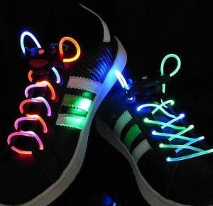 Orange LED Luminescent Shoelaces Manufactures