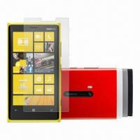 Anti-fingerprint/Anti-glare Screen Protectors for Nokia Lumia 920, Made of PET Material Manufactures