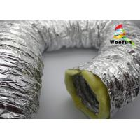 Fire Retardant Elastic Insulated Ventilation Ducting Semi Rigid Aluminum Foil Manufactures