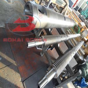 China Bimetal twin double screw and barrel/conical twin screw barrel on sale