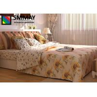 China Custom Made Modern Wooden Beds With Drawers , White Wooden Double Bed on sale
