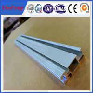 Solar panel mounting aluminum rail solar mounting rail, solar rails anodized aluminium Manufactures