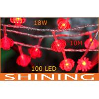 Low Power 10 Meter Red LED String Lights 100pcs Wall Mounted Decoration Manufactures