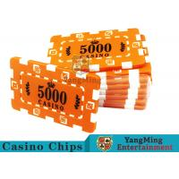 Custom Design Cheap Casino Poker Chips , ABS Plastic Numbered Poker Chips  Manufactures