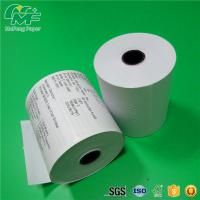 Dust Free Credit Card Terminal Paper Rolls High Performance Nontoxic Tight Rolling Manufactures
