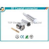 Silver FME Jack Female Crimp Connector Free Hanging For RG174 Cable Manufactures