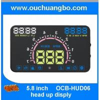 Ouchuangbo 5.8 inch hud head up diplay with OBD2 Interface Plug & Play ES350 Vehicle-Mounted Speeding Warning Alarm Manufactures