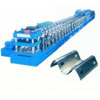 China Galvanized Steel 2 - Space W Beam Guardrails Roll Forming Machine Hydraulic Gearbox Drive on sale