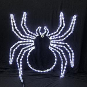 China 2018 Halloween festival spider pattern white LED rope light motif light IP55 garden indoor/outdoor decoration lighting on sale